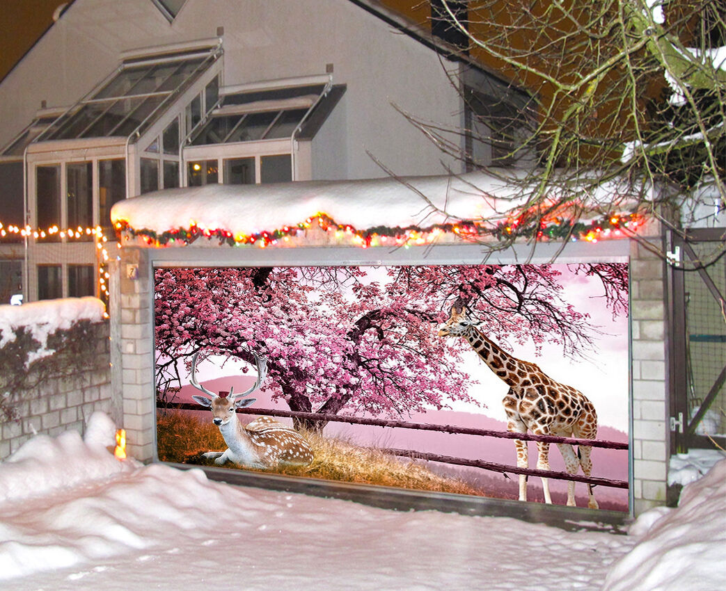 3D Animals Tree 99 Garage Door Murals Wall Print Decal Wall Deco AJ WALLPAPER IE