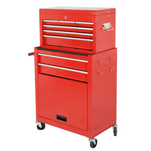 Tool Chest Box Portable Storage Garage Toolbox 6 Drawers ...