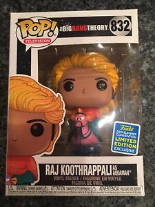 IN STOCK Funko Pop Raj  Koothrappali Aquaman The Big Bang Theory  SDCC 2019