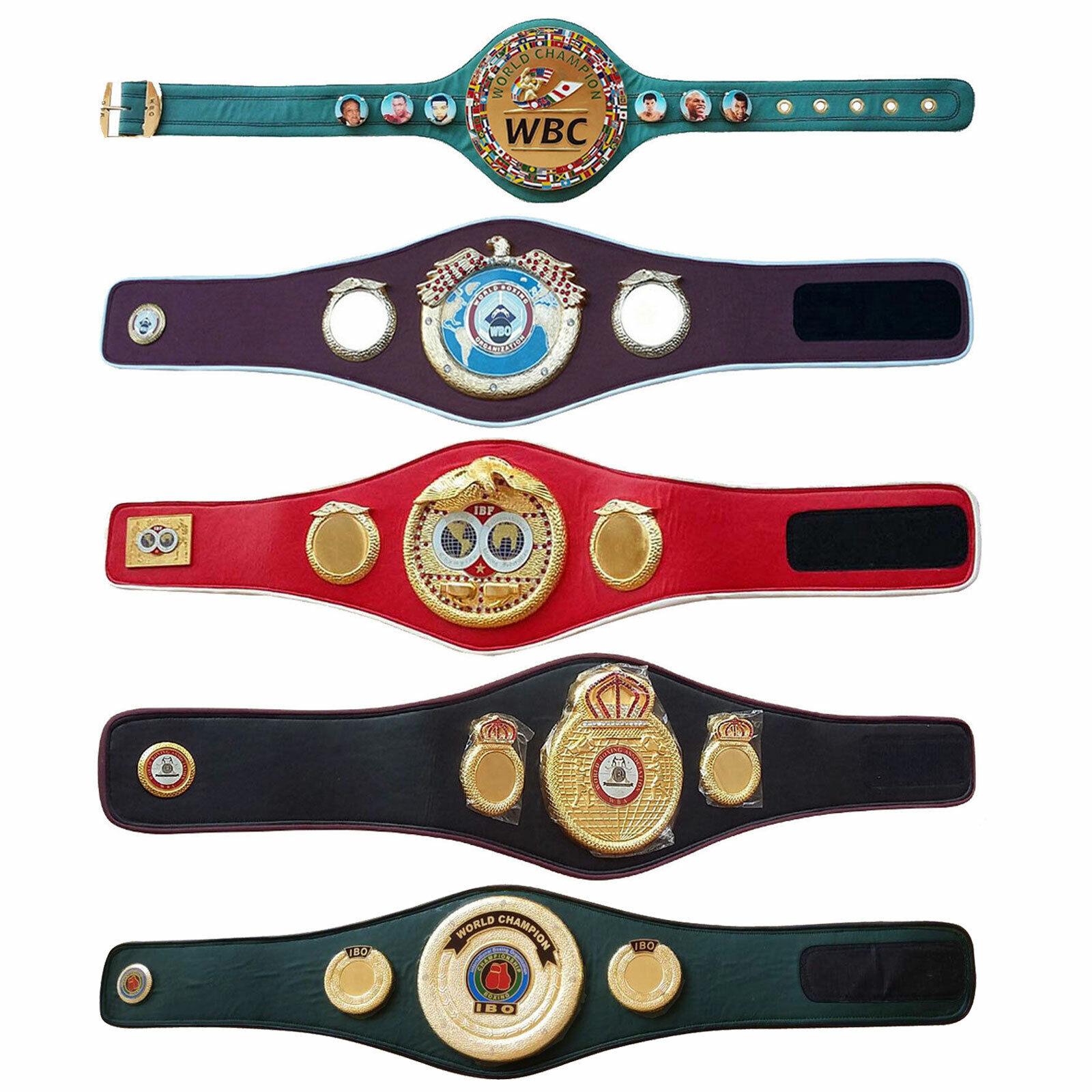 WBC WBA WBO IBO IBF Championship Boxing Belt Adult Belts Premium Quality Leather