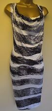 Vivienne Westwood XS Immaculate Striped Draped Wedding Races Cruise Tunic Dress