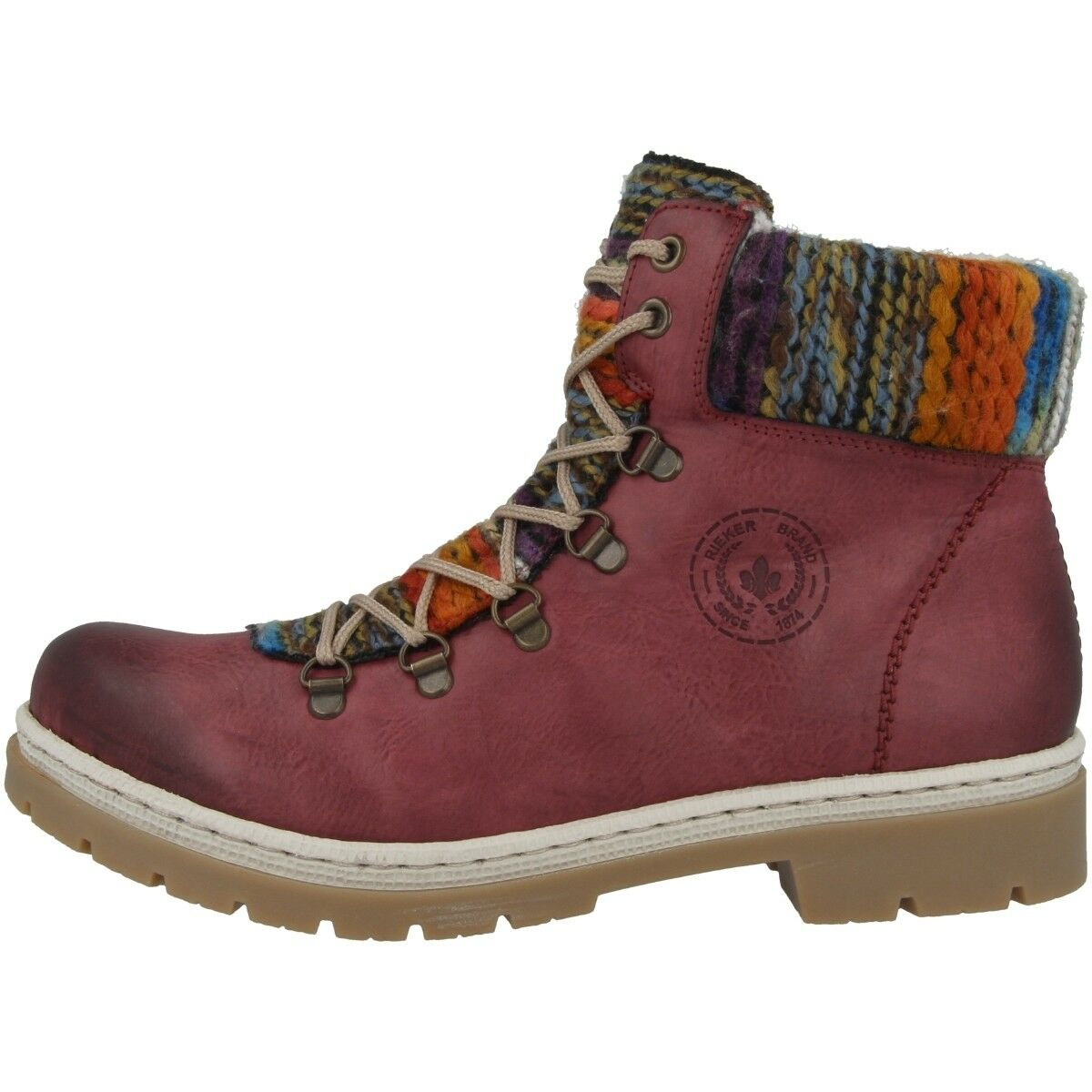 Rieker Eagle-Poncho shoes Women's Boots Ankle Boot Boots Red orange Y9432-35