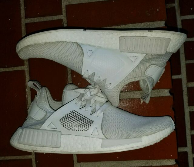 96dd82788 Adidas Originals NMD XR1 Triple White Shoes Men s Sz 9.5 Running Sneakers  BY9922