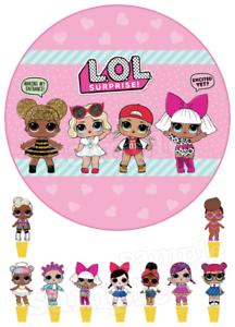Lol-Doll-Puppe-Essbar-Tortenaufleger-NEU-Party-Deko-Geburtstag-Kuchen-Surprise