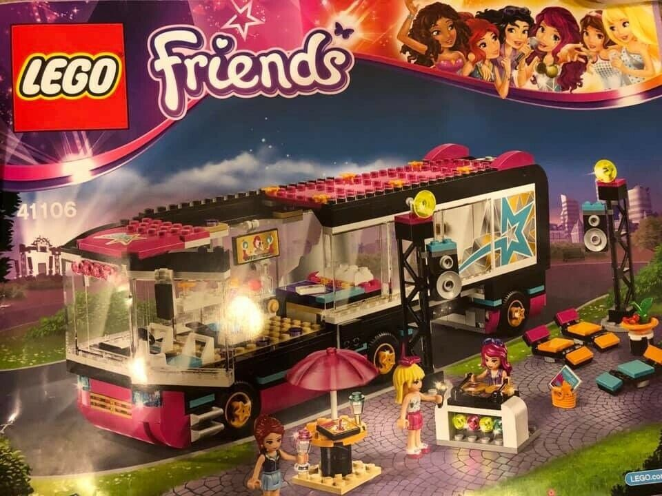 Lego Friends Pop Star Tour Bus 41106 Excellent Used Condition