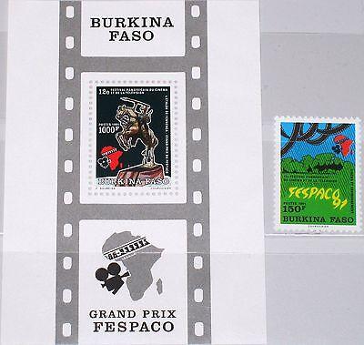 Briefmarken Burkina Faso 1991 1246 Block 135 907-08 African Film Movie Festival Fespaco Mnh Durchblutung Aktivieren Und Sehnen Und Knochen StäRken