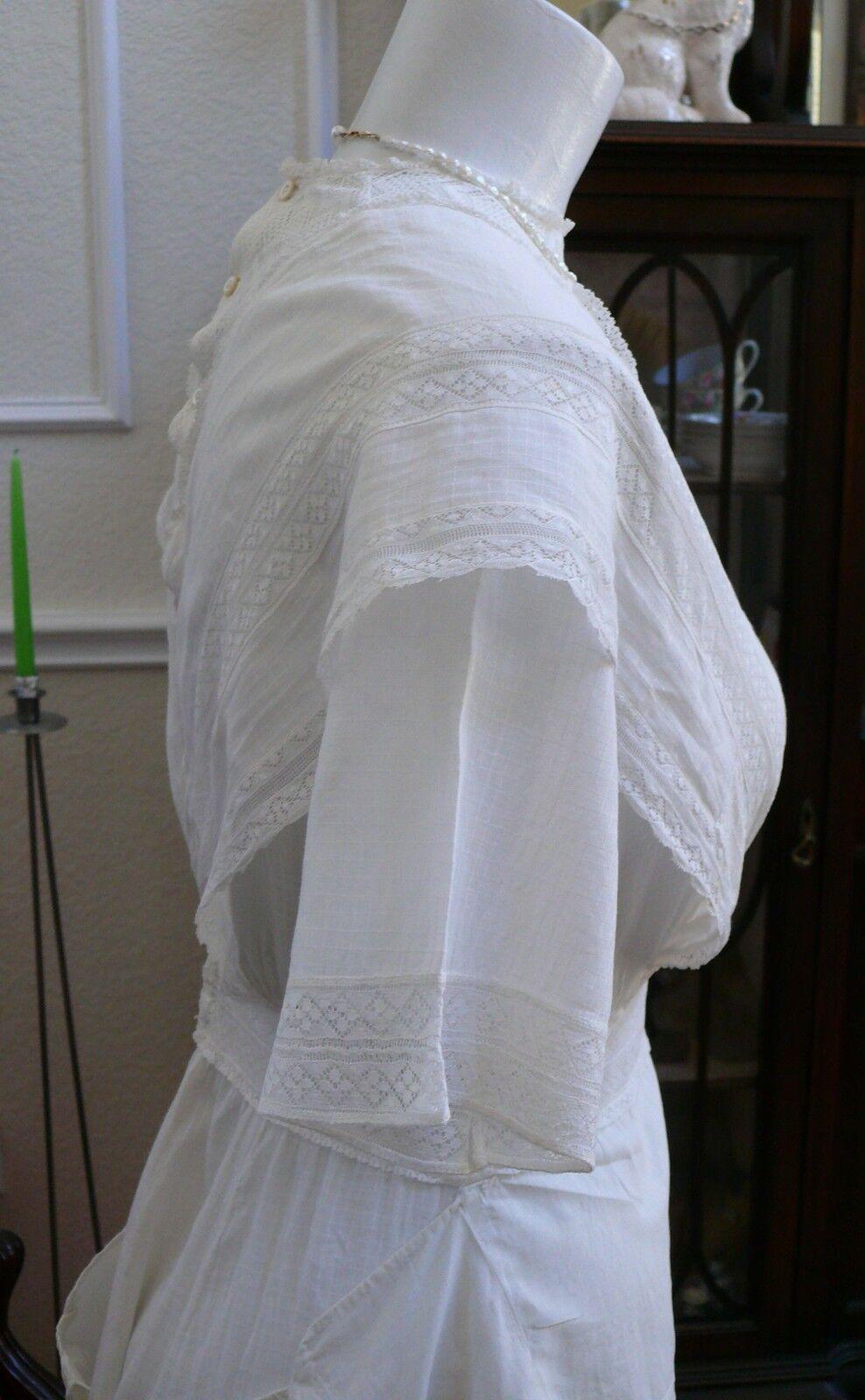 1910`s Edwardian White Dress Titanic Style Unusua… - image 5