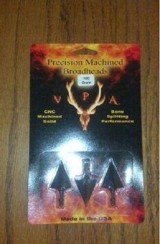 Vpa 3 Blade Broadheads 100 Grain Non-Ventilé 3 Pack