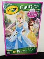 Crayola Disney Princess Giant Coloring Book 18 Pages   eBay
