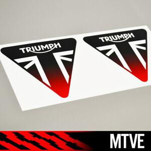 2X Triumph vinyl sticker decals motorcycle motorbike