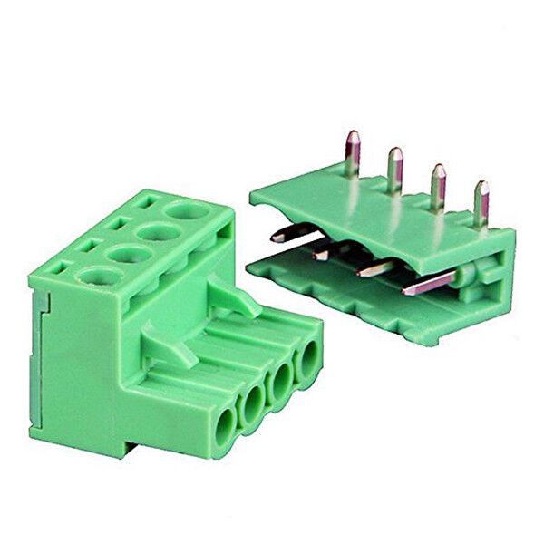 9Pairs 4Pole 5.08mm Plug Type Pitch PCB Mount Screw Terminal Block Kit M2S1
