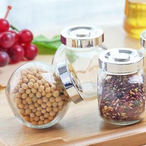 Glasversiegelte Dosen Transparenter Runder Lagerbehälter Gewürz Vorratsgefäße