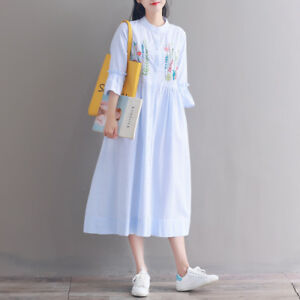 03f18b62b5a37 Image is loading Summer-Vintage-Mori-Girl-Japanese-Preppy-Style-Embroidery-