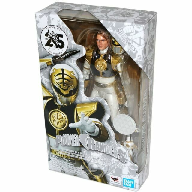 S.H Figuarts White Ranger Mighty Morphin Power Rangers BANDAI ACTION FIGURE NEW