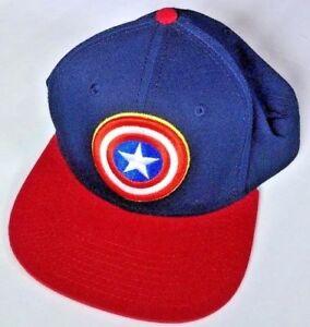 87b82178297f2 Image is loading Marvel-Captain-America-Shield-Navy-Red-Adjustable-Snapback-