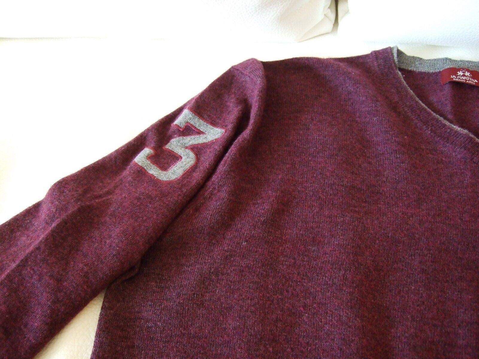 La Martina Herren Pullover Größe L Farbe Farbe Farbe Pflaume | Hat einen langen Ruf  1e06e7