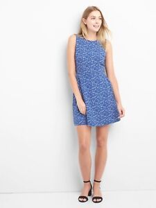 2258ae0ef8 Image is loading NWT-Gap-Crewneck-fit-and-flare-Dress-light-