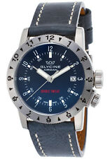 Glycine Men's 3938.18 LB8B Airman Double Twelve Automatic 40mm Blue Watch