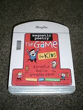 Magnetic Poetry the Game for Kids Tin Case NEW!! Free Shipping!!