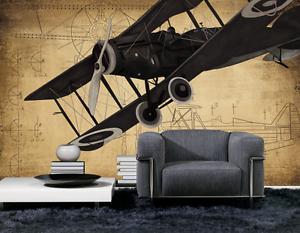 3D Aircraft Sketch 36 Paper Wall Print Wall Decal Wall Deco Indoor Murals