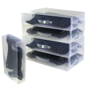 30-52-12cm-Long-Boots-Boxes-Storage-Cover-Organizer-Clear-Shoe-Boxes-Plastic-New