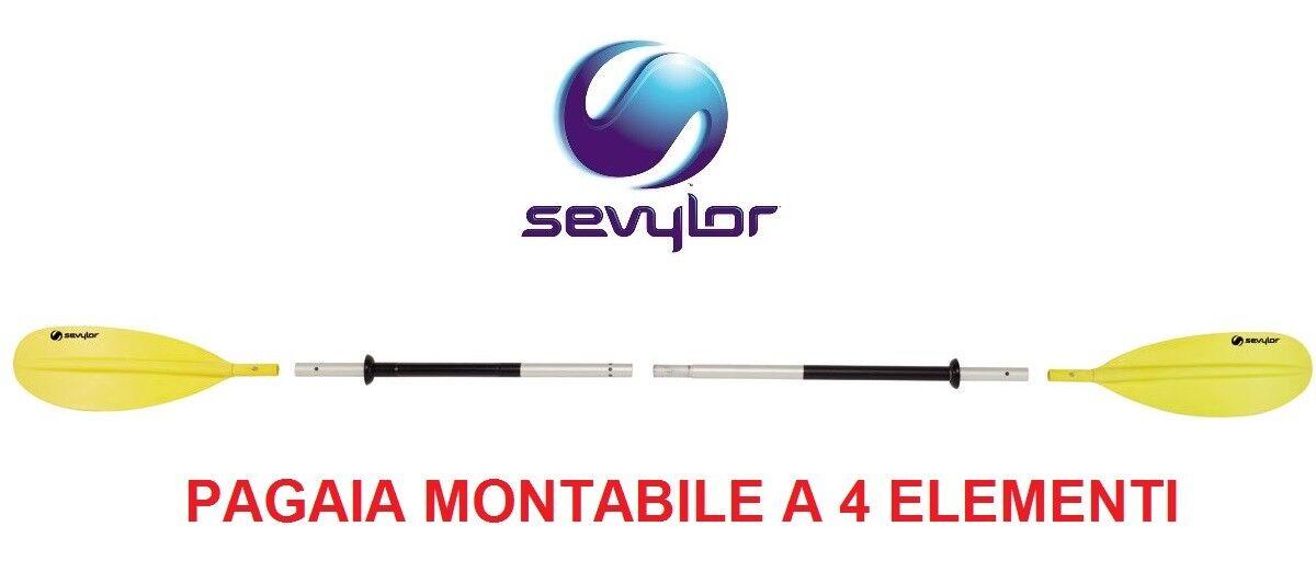 PAGAIA COMPATTA MONTABILE A 4 ELEMENTI MODELLO K-COMPACT 230 SEVYLOR - PER CANOA