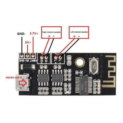 Stereo Output Bluetooth Audio Module Universal Module Receiver Speaker Ampl W2D1