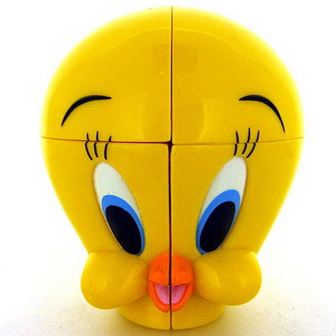 Rare 1999 Cute Warner Bros. Tweety Bird 2x2 2x2x2 Magic Cube Twist Puzzle