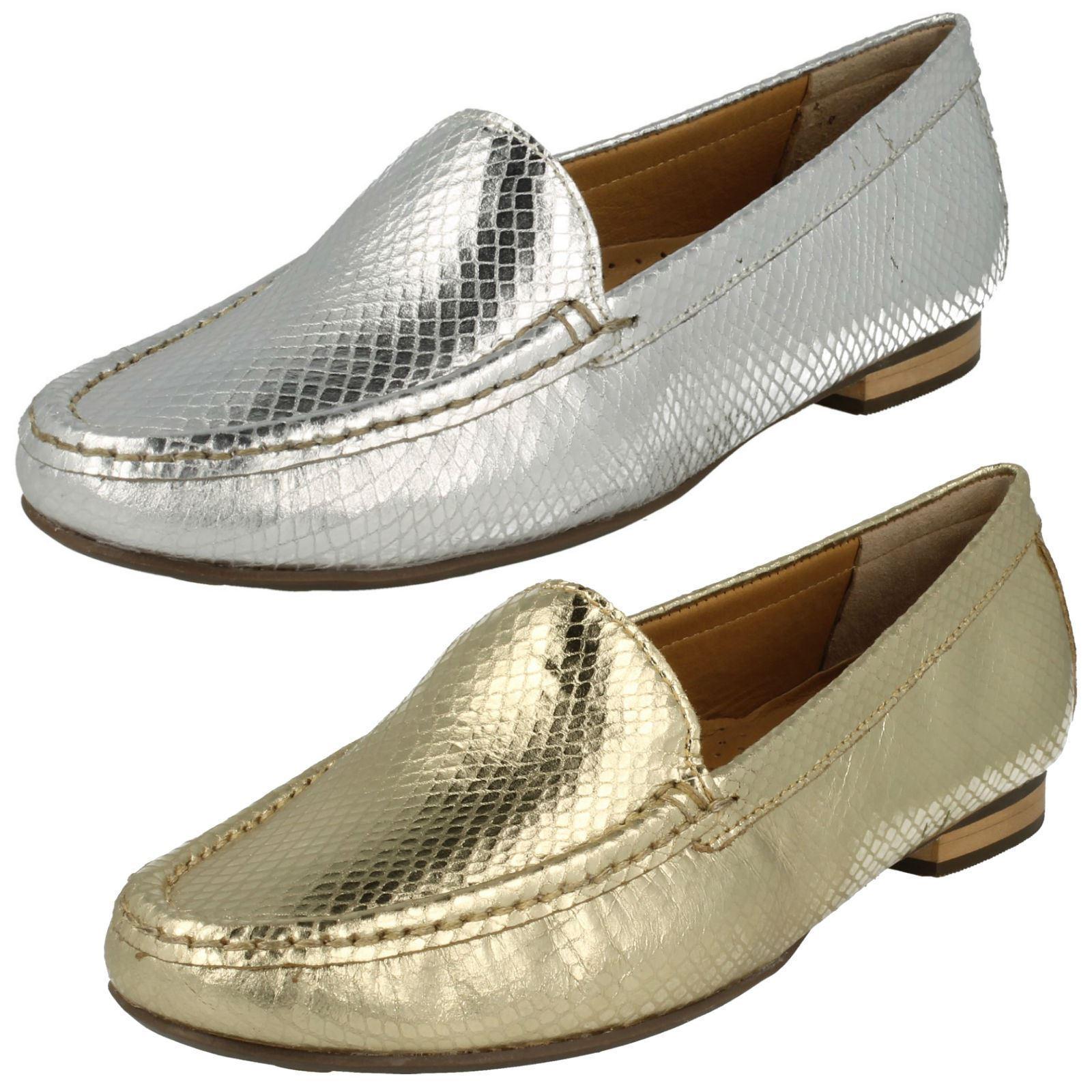 Mesdames argent Design Serpent Cuir à Enfiler Van Dal chaussures Cerise