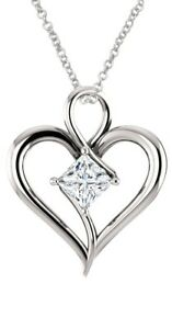 Sterling-Silver-Genuine-0-65-tcw-5mm-White-Topaz-Heart-Pendant