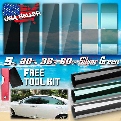 "VLT 20/% Uncut Roll 39/"" x 40FT Window Tint Film Charcoal Black Car Glass Office"