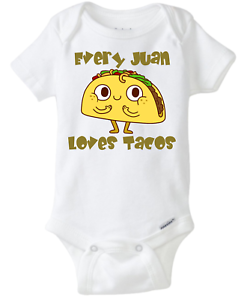 Image Is Loading Every One Loves Tacos Funny Baby Onesie Personalized