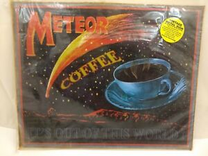 METEOR-COFFEE-034-It-039-s-Out-of-This-World-034-15x12-Rustic-Vintage-Look-Metal-Tin-Sign