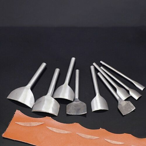 Steel Leather Craft 1//4 Half Round Cutter Punch Strap Tools Belt Wallet End 7pcs