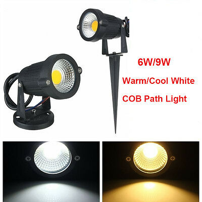 Waterproof 6W 9W COB LED Garden Yard Path Floodlight Spot Light Outdoor Lamp