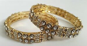 Gold-Indian-Bangles-Size-2-6-Bollywood-Party-Statement-Jewellery