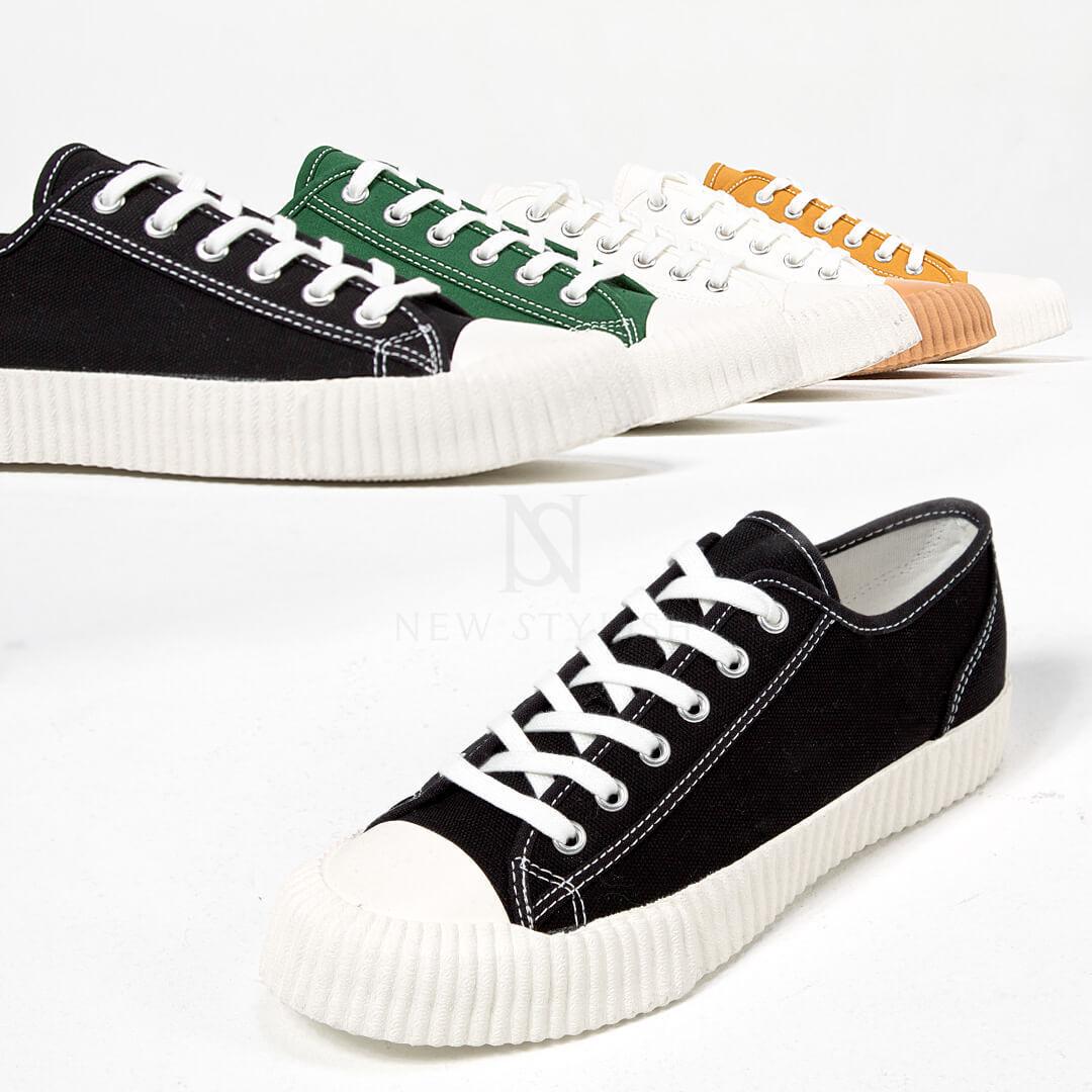 Newstylish Homme Chaussures De Loisirs Chaussures Contraste Semelle en Caoutchouc à Lacets Baskets