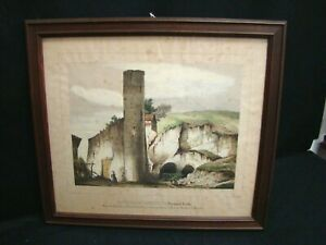Enrico-Gonin-Lithography-Orig-Castle-of-Lovencito-Torino-Piedmont-Doyen