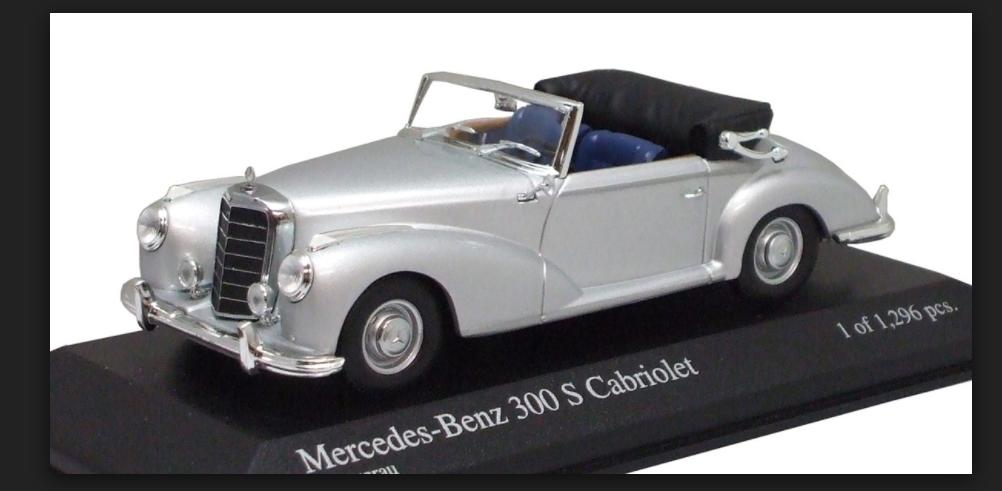 Mercedes Benz 300 S Cabriolet 1954 Siver 430032334  Minichamps