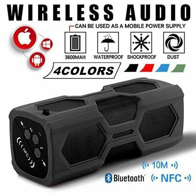 Portable Bluetooth 4.2 Wireless Speaker Waterproof Power Bank Ultra Bass US NEW
