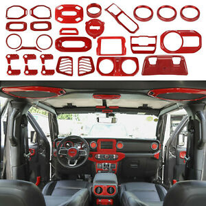 Full Interior Accessories Cover Trim Kit For 2018-20 Jeep Wrangler JL 8'' Screen