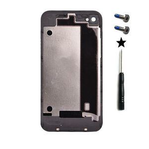 iphone 4 back glass replacement black back battery cover door rear glass repair for iphone 17330