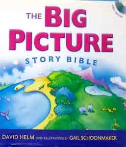 The-Big-Picture-Story-Bible-by-David-R-Helm-Gail-Schoonmaker-used-hardcover-CDs
