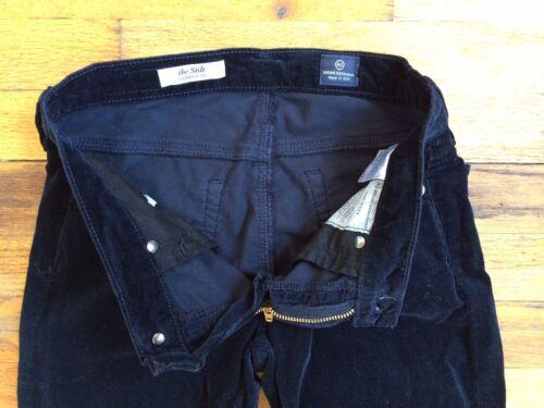 Skinny Rett Stilt Sz Jeans Ag 24 Corduroy Goldschmied Mørkeblå Adriano 17qwtxSI
