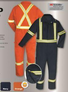 Couvre-tout-double-gatts-orange-54-haute-visibilite-bande-2-pouces-size-54