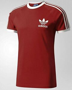 Size Originals Stripes Bnwt Tshirt Medium Adidas 3 Retro California 0cq7z