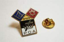 Templar Knights Euclids POA Jewish Star of David Masonic Hat Tie Lapel Pin