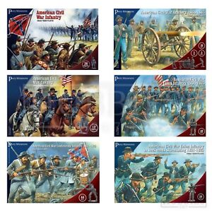 Perry-Miniatures-American-Civil-War-Figures-28mm-ACW-Union-Confederate-Plastic