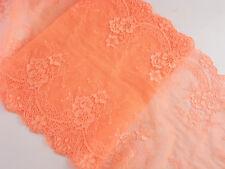 WUNDERSCHÖNE 22CM Breit Orange Elastisch Spitze 1 Meter Elastic/Spandex lace