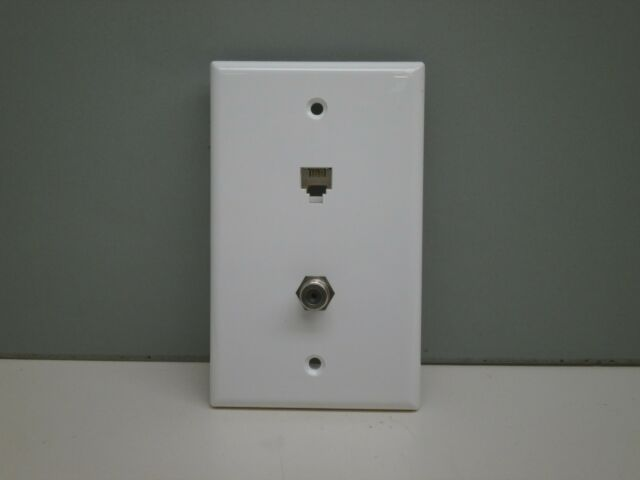 Ideal Telephone Phone Jack And Tv Coaxial Cable Combo Wall Plate Ivory 10pc For Sale Online Ebay